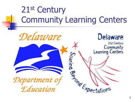 21 st Century Community Learning Centers 1. Authorization Elementary and Secondary Education Act (ESEA), as amended in Title IV Part B 2.