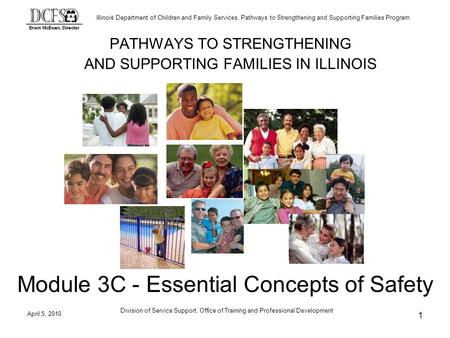 Illinois Department of Children and Family Services, Pathways to Strengthening and Supporting Families Program April 5, 2010 Division of Service Support,