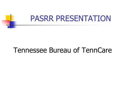 Tennessee Bureau of TennCare
