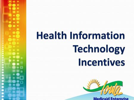 Agenda HIT survey Health Information Technology Incentives HITREC- Health Information Technology Regional Extension Center 2.