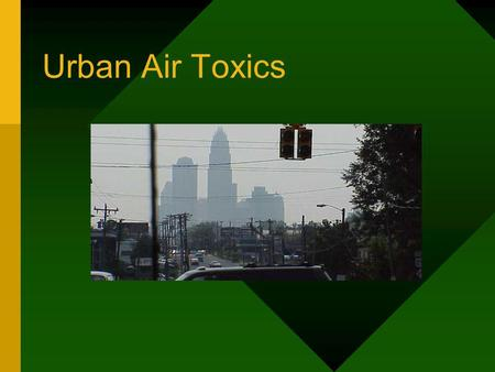Urban Air Toxics. The UAT Monitoring Network Urban Sites Asheville Charlotte Winston-Salem Raleigh Research Triangle Park Wilmington Rural Site Candor.