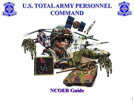 1 U.S. TOTAL ARMY PERSONNEL COMMAND NCOER Guide. 2 To update the leadership on the Armys Noncommissioned Officer Evaluation Reporting System. Purpose.
