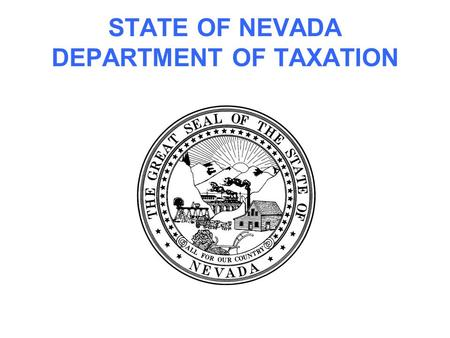 STATE OF NEVADA DEPARTMENT OF TAXATION. MODIFIED BUSINESS TAX.