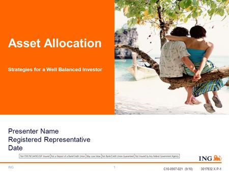 ING1 Asset Allocation Strategies for a Well Balanced Investor C10-0907-021 (9/10) 3017832.X.P-1 Presenter Name Registered Representative Date.