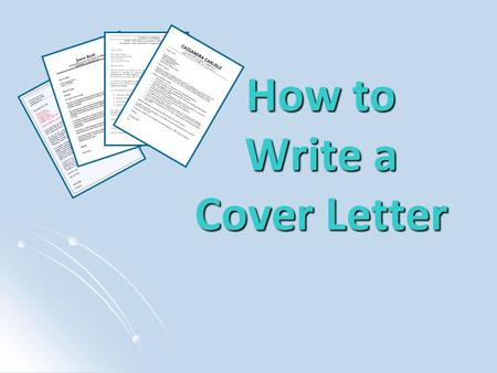 How to Write a Cover Letter. What is a Cover Letter? A cover letter is a letter sent alongside your resume to introduce yourself, explain why you are.