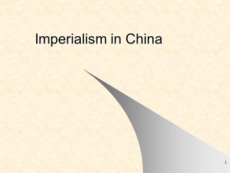 Imperialism in China.