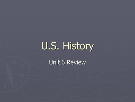 U.S. History Unit 6 Review. What Do You Know? 1. What led to the development of cities like Chicago? railroads or telegraphs 1. What led to the development.