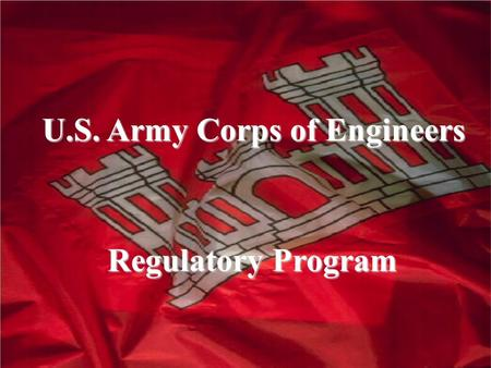 U.S. Army Corps of Engineers Regulatory Program Regulatory Program.