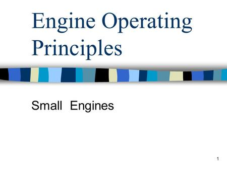 Engine Operating Principles