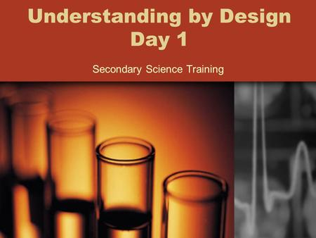 Understanding by Design Day 1