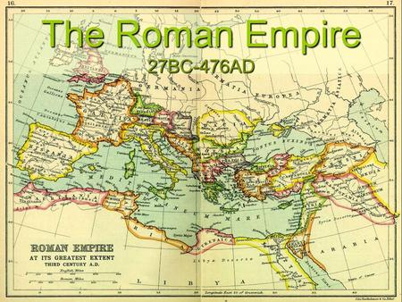 The Roman Empire 27BC-476AD. Fall of Rome Economic Causes Economic Causes Heavy taxes. Population decline. Social Causes Social Causes Erosion of traditional.