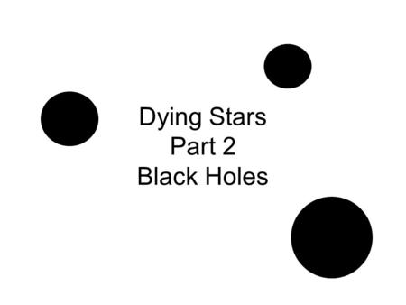 Dying Stars Part 2 Black Holes. First you need a Supernova! Giant star Layers Balance – Gravity and Heat/Energy Fusing Iron Core Collapse – Ka-Blooey!!!
