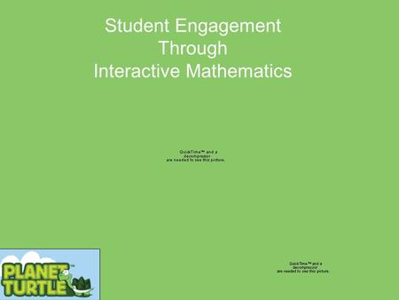 Student Engagement Through Interactive Mathematics.
