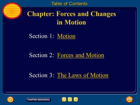 Chapter: Forces and Changes in Motion Table of Contents Section 3: The Laws of MotionThe Laws of Motion Section 1: Motion Section 2: Forces and MotionForces.