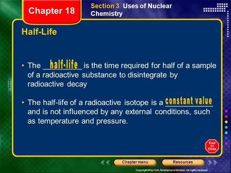 Section 3  Uses of Nuclear Chemistry