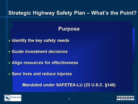 Oklahoma Strategic Highway Safety Plan presented to SHSP Leadership Group SHSP Working Group presented by Susan HerbelSam Lawton, Cambridge Systematics,