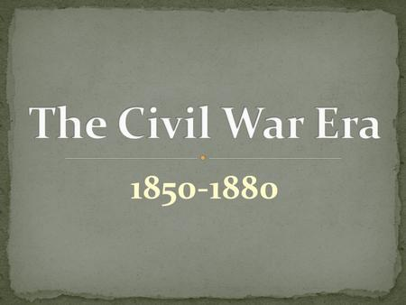 1850-1880. Before the Civil War, America was essentially an idealistic, confident, and self- reliant republic. After the war, the United States emerged.