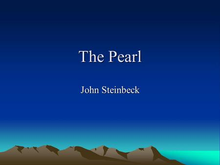 literary essay on the pearl by john steinbeck