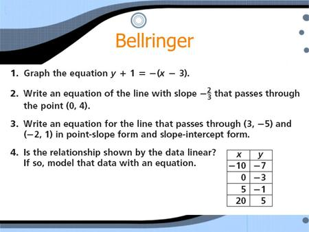 Bellringer. Chapter 6: Section 5 Parallel and Perpendicular Lines.
