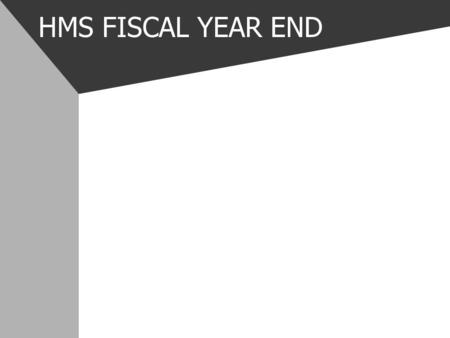 HMS FISCAL YEAR END. HMS FISCAL YEAR END CHECKLIST Setup Client Member – HMS.000 (RESA will probably do this) Add Position Control Options for the new.