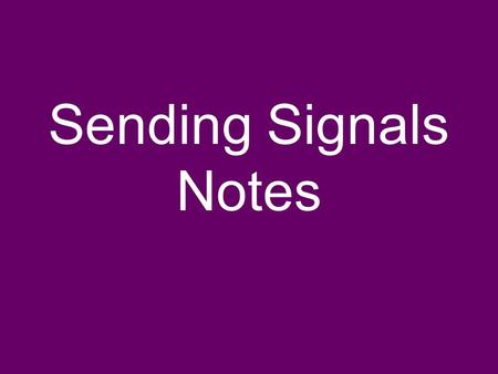 Sending Signals Notes. Structure of Single Neuron.