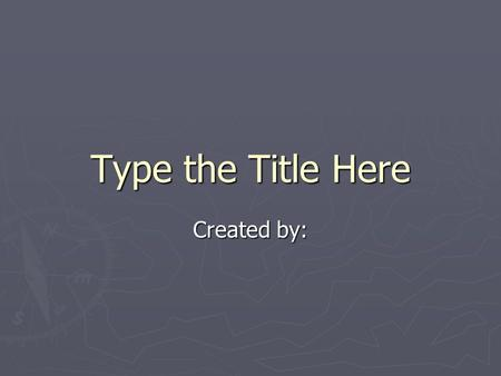 Type the Title Here Created by:. *What land did the Cherokee occupy before the European settlers began to move to North America? *What caused the conflict.