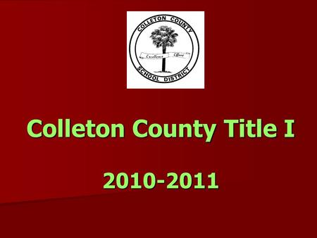 Colleton County Title I