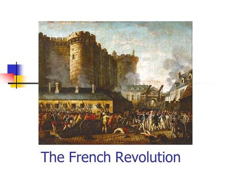 The French Revolution. Absolute monarchs didnt share power with a counsel or parliament Divine Right of Kings Absolutism King James I of England.