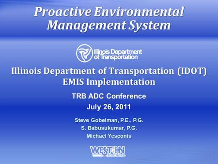 Proactive Environmental Management System