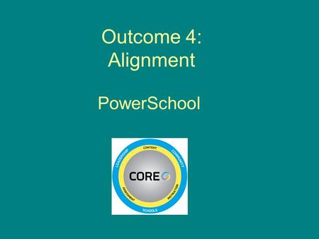 Outcome 4: Alignment PowerSchool. Think about Outcome 4. What comes to mind?