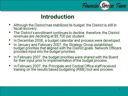 2007-2008 Adopted Budget Oakland Unified School District Javetta Robinson, CFO Terrie Williams, Executive Officer of Finance Board of Education Meeting.
