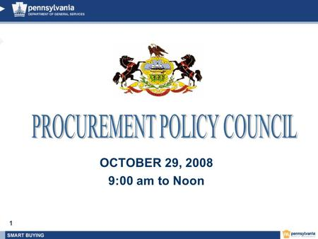 1 OCTOBER 29, 2008 9:00 am to Noon. 2 PPC Agenda 1.Finance Transformation – Jeff Mandel / Sharon Minnich 2.BMWBO – Kathryn Waters-Perez 3.Materials –