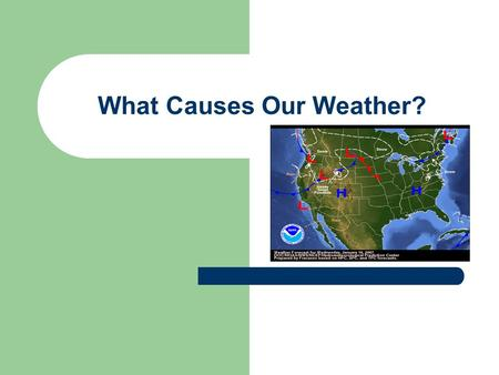 What Causes Our Weather?