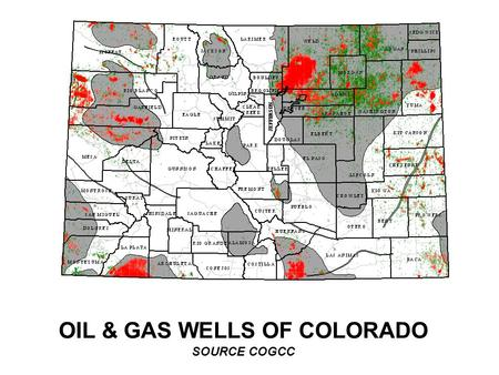 OIL & GAS WELLS OF COLORADO SOURCE COGCC. COLORADO MONTHLY COMPOSITE GAS PRICE vs NYMEX 11-05-07 ( Colo=20%Northwest PL RM+50%El Paso SJB+30%CIG Rockies;