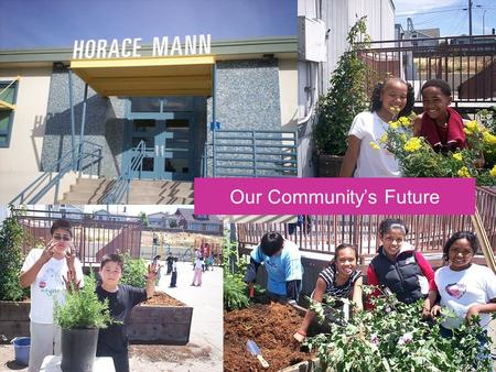 Our Communitys Future. 2006 Partnership Results >$25K in Grants, Materials, Labor Health Program Support 3 Beautification Days School Learning Garden.