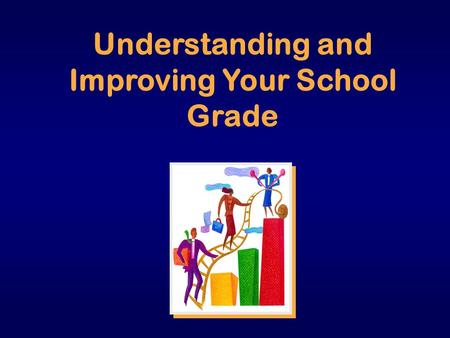 Understanding and Improving Your School Grade. How is my school doing? ٭ Compared to STANDARDS ٭ Compared to SELF ٭ Compared to OTHERS.