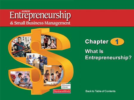 What Is Entrepreneurship? Back to Table of Contents.