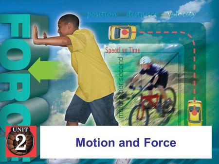 Motion and Force. Chapter Four: ForcesForces 4.1 May the Force Be With YouMay the Force Be With You.