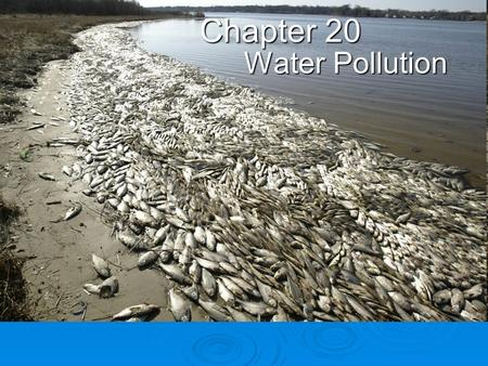 Chapter 20 <strong>Water</strong> Pollution.