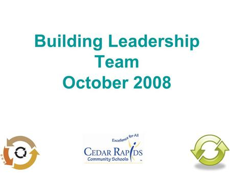 Building Leadership Team October 2008. Agenda Big Picture 08-09 Formative Overview PLC Overview SMART Goal and Action Plan Plan.