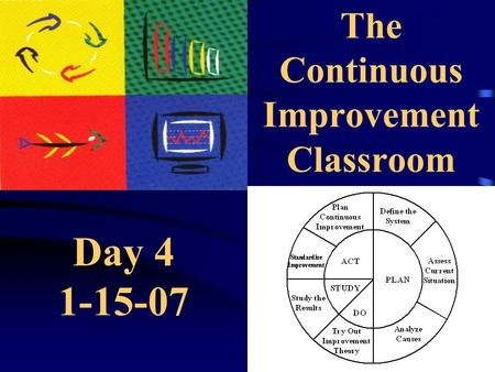 The Continuous Improvement Classroom Day 4 1-15-07.