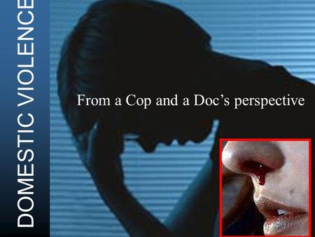 DOMESTIC VIOLENCE From a Cop and a Docs perspective.