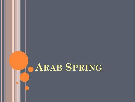 A RAB S PRING. W HERE ? Middle East & Northern Africa.