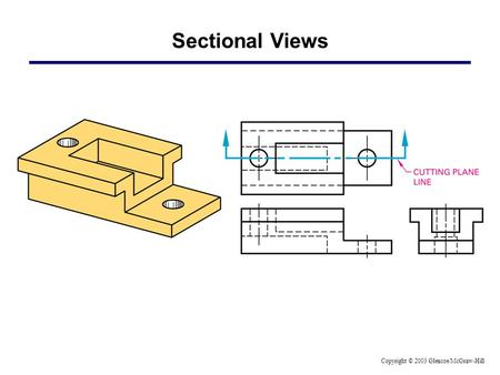 Sectional Views Copyright © 2003 Glencoe/McGraw-Hill.