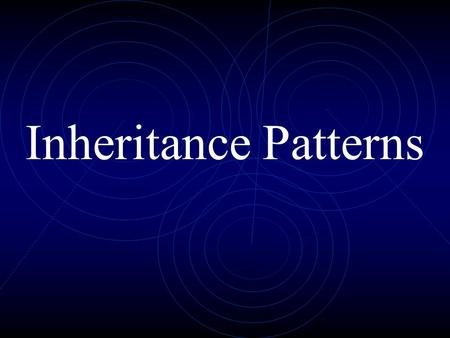 Inheritance Patterns.