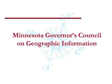 Minnesota Governors Council on Geographic Information.