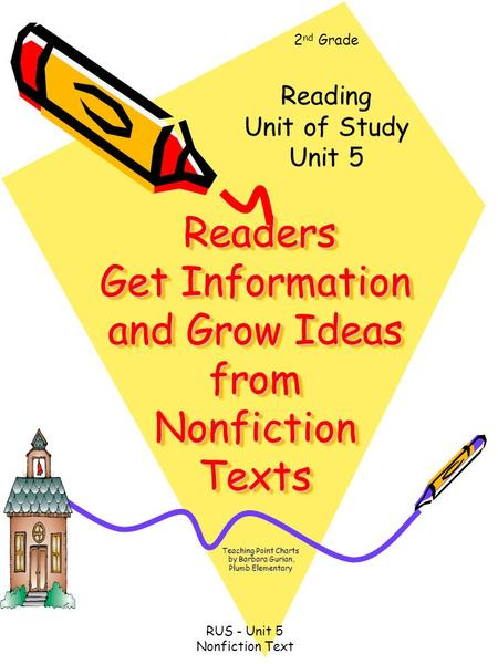 Readers Get Information and Grow Ideas from Nonfiction Texts Readers Get Information and Grow Ideas from Nonfiction Texts Teaching Point Charts by Barbara.