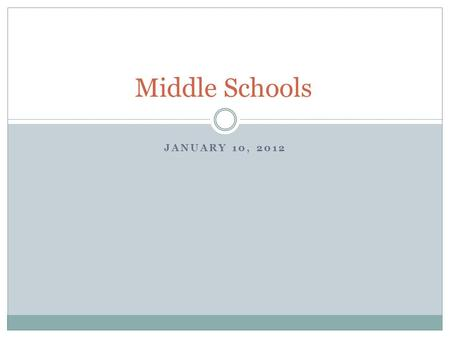 JANUARY 10, 2012 Middle Schools. Need to do for Middle schools: Check which zoned school your child will attend via website. Select electives when sheet.