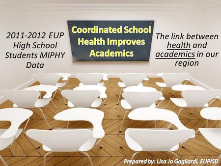 The link between health and academics in our region 2011-2012 EUP High School Students MIPHY Data.