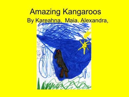Amazing Kangaroos By Kareahna, Maia, Alexandra,. Habitat Kangaroos live in forests, woodlands, and grass plains in Australia, Papau New Guinea and a few.